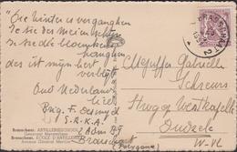 1951 Liefdesbrief Oud Nederlands Lied 'Die Winter Is Verganghen' (1573) Brasschaat Artillerieschool Kazerne Polygoon - Casernes