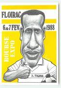 Expo-Bourse De Floirac 1988 - J. Tigana - N°37 - Dessin Bernard Veyri - Tirage Limité à 150 Ex 128/150 - Veyri, Bernard