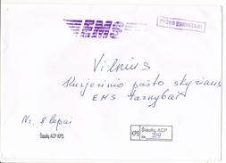 EMS Domestic Courier Cover Pašto Tarnybinis - Šiauliai To Vilnius 1990's - Lituania