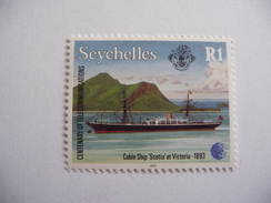 """Seychelles    1993  N° Y&T  776   """" Cable Ship Scotia At Victoria """"  1v.  Neuf - Seychelles (1976-...)"""