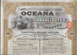OCEANA Consolidated 1929 - Actions & Titres