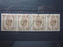 BEAUX TIMBRES DE GRANDE-BRETAGNE N° 216 EN BANDE DE 4 , XX !!! - Unused Stamps