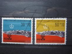 BEAUX TIMBRES DU LIECHTENSTEIN N° 353 + 354 , XX !!! - Liechtenstein