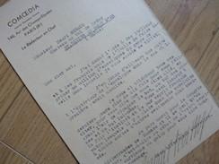 Gabriel BOISSY (1879-1949) Inventeur FLAMME SOLDAT INCONNU Arc De Triomphe. AUTOGRAPHE à Henri Béraud. [ COMOEDIA ] - Autographes