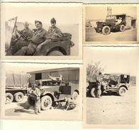 JEEP MILITAIRES  - 4 PHOTOS ORIGINALES - Dim 3 X 12,5x9 Cms  + 1 X 9x6 Cms - Bon état-VOITURE - Automobiles