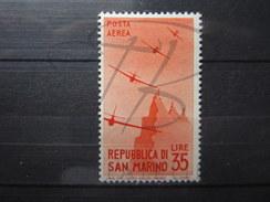 BEAU TIMBRE DE POSTE AERIENNE DE SAINT-MARIN N° 50 , X !!! - Luftpost