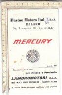 PO6311D# CATALOGO LISTINO ILLUSTRATO NAUTICA - MOTORI MERCURY MARINE MOTORS ITALIA - Barche