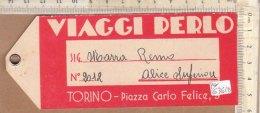 PO6361D# ETICHETTA TARGHETTA VALIGIA - VIAGGI PERLO - Etichette Da Viaggio E Targhette