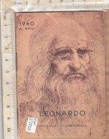 PO6379D# CALENDARIETTO OMAGGIO SARTORIA SARTOTECNICA MILANO 1940 - LEONARDO - ILLUSTRATORE ACCORNERO - Calendari