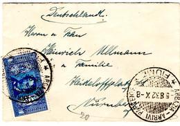 Lettre De Abbazia, Fiume (Opatija) (05.08.1932) Pour Nuremberg_Carlo Botta - 1900-44 Victor Emmanuel III