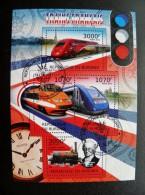 M/s From Burundi 2012 Transport Train Trains Francais Locomotives Railway Clock