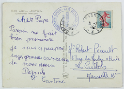 Carte Postale 1962 Col De L'Izoard --> Marseille, Affr. 20c Tad Ambulant Briancon A Lyon A - Brieven En Documenten