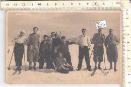 PO6637D# FOTOGRAFICA GRUPPO SCIATORI ALPINISTI - RICORDO PIANE DI MOCOGNO - MODENA 1933  No VG - Winter Sports