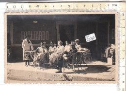 PO6638D# FOTOGRAFICA GRUPPO DONNE UOMINI CAFFE' BIGLIARDO- RICORDO Anni '30  No VG - Caffé