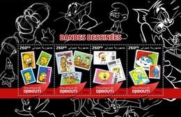 Djibouti - Postfris/MNH - Sheet Stripfiguren 2016 - Djibouti (1977-...)