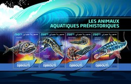 Djibouti - Postfris/MNH - Sheet Prehistorische Waterdieren 2016 - Djibouti (1977-...)