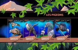 Djibouti - Postfris/MNH - Sheet Duiven 2016 - Djibouti (1977-...)