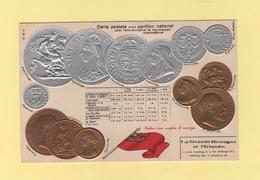 Pour Faire Connaitre Le Monnayage International - Pavillon National - La Grande Bretagne Et L Irlande - Monnaies (représentations)
