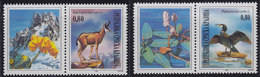 Croatia Republic Of Serbian Krajina 1995 Protected Animal Species Vignette-stamp, MNH (**) Michel 43-44 - Croatie