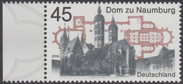 !a! GERMANY 2016 Mi. 3264 MNH SINGLE W/ Left Margin - Naumburg Cathedral - BRD