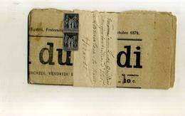 FRANCE 1876/98 . SAGE TYPE II N°83 . BANDE SUR BANDE JOURNAL DE 1879 (le Réveil Du Midi) . - 1876-1898 Sage (Tipo II)