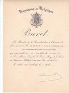 BELGIQUE Brevet De Croix Du Prisonnier Politique 1940 -1945 -deux étoiles -Alderse-Baas -1950 -avec Enveloppe - 1939-45