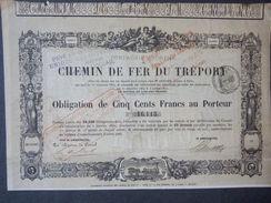 1 Chemin De Fer TREPORT 1869 Obligation 500 FR + Coupons - Actions & Titres