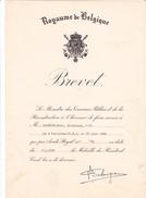 BELGIQUE Brevet Resistant Civil -guerre  1940 -1945 - Alderse-Baas -1954 -avec Enveloppe - 1939-45