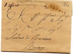 Prefilatelica Napoleonica Da Pinerolo A Buriasco 1820 - Completa Di Testo - Ricognizione Militare - 1. ...-1850 Prephilately
