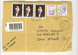 Italia Busta Viaggiata Itali 2014 Con Bolli 2008 Anna Magnani P.O./Priority/Raccomandata See Scan - 6. 1946-.. Repubblica