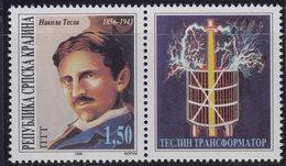 Croatia Republic Of Serbian Krajina 1996 Inventor Nikola Tesla Stamp-vignette, MNH (**) Michel 58 - Croatie