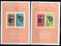 PANAMA - 1965 - 2 BLOCS  **NON  DENTELE Et DENTELE  - ESPACE -J.F Kennedy - Space