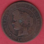 France 10 Centimes Cérès 1872 K - France