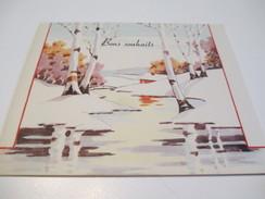 Carte De Vœux Ancienne Usagée/Canada/Riviére Enneigée Et Bouleaux/Noël Et Jour De L'an/Gabrielle/Vers1935-1955  CV - Altre Collezioni