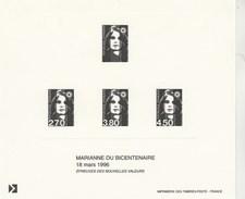 Gravure Marianne Du Bicentenaire 18 Mars 1996 - Documents De La Poste
