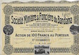 Action Société Miniere Et Fonciere Du Bandama  Numéro23335 Année 1909 - Actions & Titres