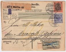 DR, 1900, Seltene Mischfrankatur! , #6935 - Briefe U. Dokumente