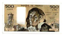 Billet De 500 Francs Du 8-1-1987 - K 249- Voir Etat