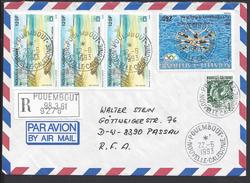 NOUVELLE-CALEDONIE - Enveloppe Recommandée De Pouembout Vers Passau (R.F.A) 2 Scans - - Nouvelle-Calédonie