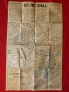 CARTE DU FRONT LIGNES MAGINOT ET SIEGFRIED 90 X 55 - Documents
