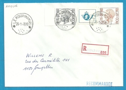 1647+1649 Op Brief Aangetekend Met Sterstempel (Relais) * LE ROUX (NAMUR) * Met Aantekenstrookje FOSSES-LA-VILLE - 1970-1980 Elström