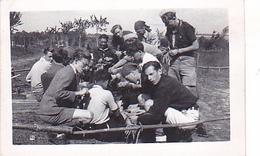 25962 Cinq 5 Photo BELGIQUE  - Camp Ecole  -scout -scoutisme -avant 1945 -repas - Guerre, Militaire