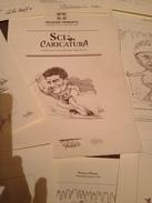 Cartella Con 20 SCHEDE / CARICATURE CAMPIONI DELLO SCI - SESTRIERE 1996 -FIRMATE - Autografi