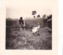 25963 Six 6 Photo BELGIQUE  - Camp Ecole  -scout -scoutisme -avant 1945 -repas Ferme