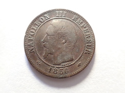 2 CENTIMES 1856 A NAPOLEON III FRANCE - France