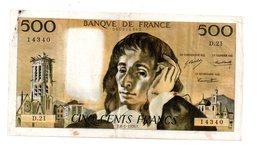 Billet De 500 Francs Du 8-1-1970--D21- Voir Etat