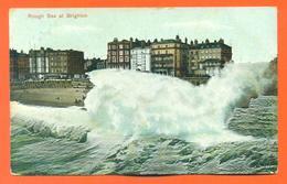 """CPA Brighton """" Rough Sea At Brighton """" LJCP 20 - Brighton"""