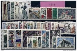 """FR Année Complète YT 1368 à 1403 """" 38 Timbres """" 1963 Neuf** - France"""
