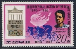 Korea North 1978 Mi 1767 ** Robert Charpentier - Gold Medalwinner Cycling - Berlin 1936 - Olympic Games