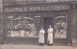 Paris. Carte Photo Pharmacie Normale St Denis 2 Scans - Shops